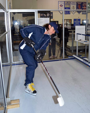 Picture Of A Person Practicing Hockey Skills At An Ice Skating Rink - The Chiller