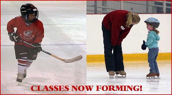 Register now for the Spring session of hockey and skating classes - begins week of May 4.
