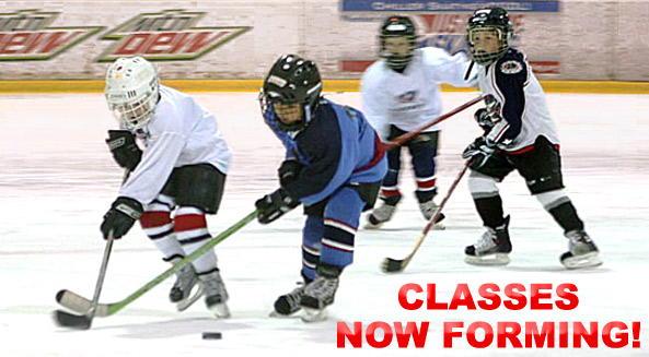 Register for early spring Junior Jackets hockey classes presented by Tim Hortons!