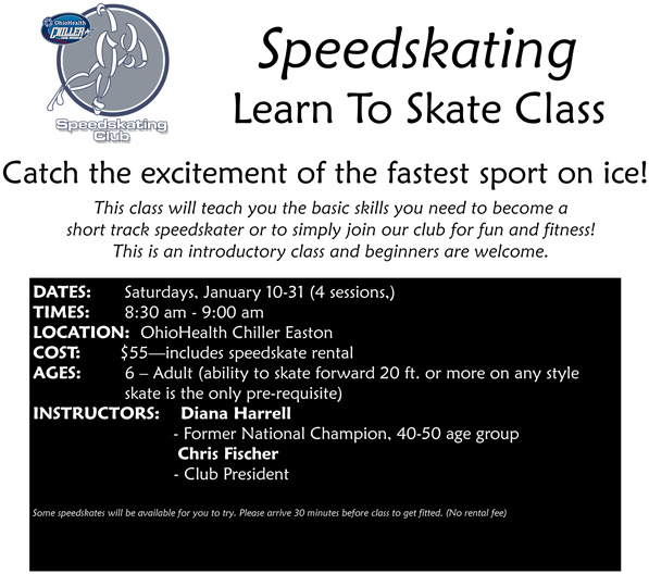 Speedskating Learn to Skate Class